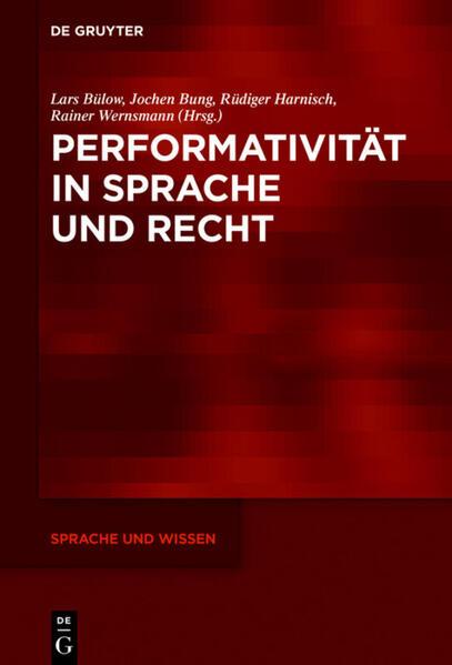 Performativität in Sprache und Recht als Buch (gebunden)