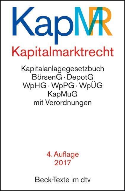 Kapitalmarktrecht (KapMR) als Buch von