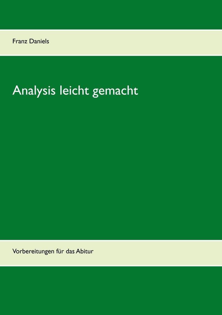 Analysis leicht gemacht als eBook