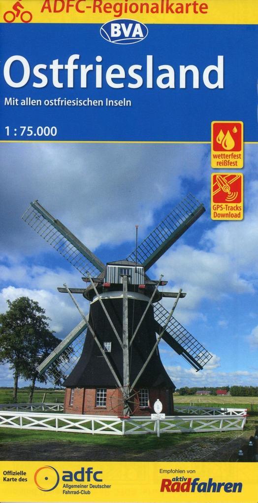 ADFC-Regionalkarte Ostfriesland, 1:75.000 als Buch
