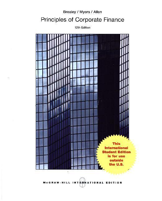 ISE Principles of Corporate Finance als Buch von Richard A Brealey, Stewart C Myers, Franklin Allen