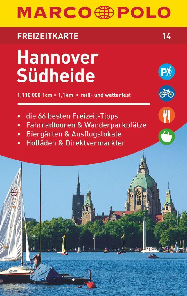 MARCO POLO Freizeitkarte 14 Hannover, Südheide 1 : 110 000 als Buch