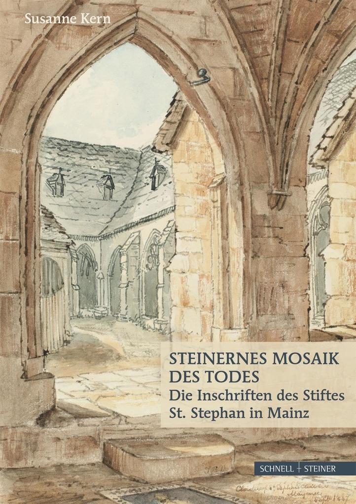 Steinernes Mosaik des Todes als Buch