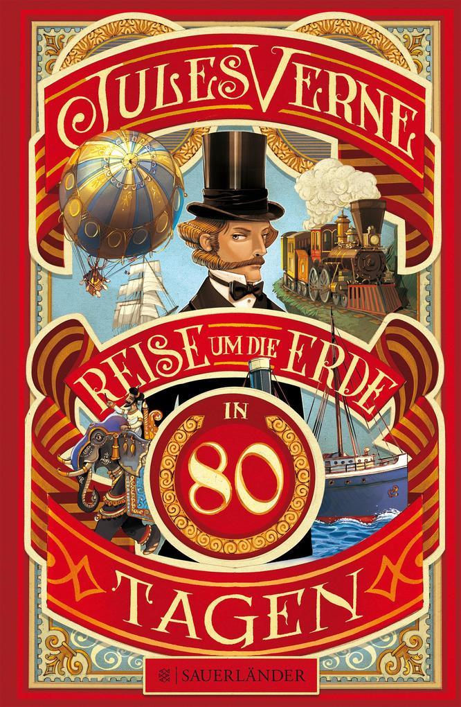 Reise um die Erde in 80 Tagen als Buch