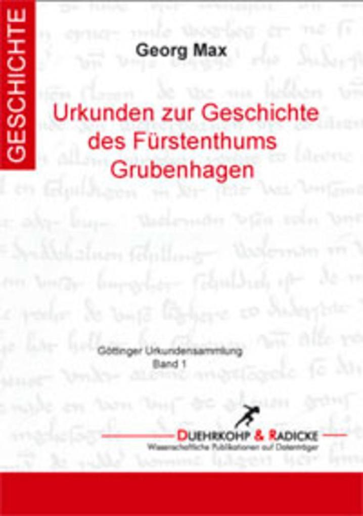 Urkundenbuch zur Geschichte des Fürstenthums Grubenhagen als eBook