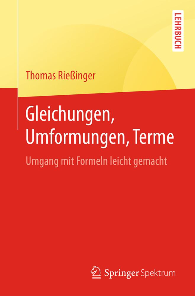 Gleichungen, Umformungen, Terme als Buch