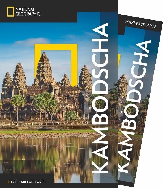National Geographic Traveler Kambodscha mit Maxi-Faltkarte als Buch