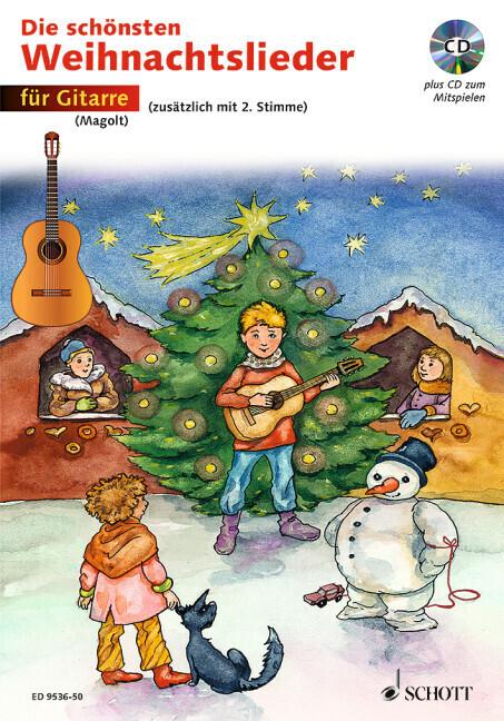 Die schönsten Weihnachtslieder für Gitarre. Mit CD