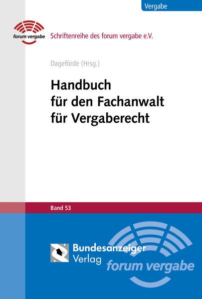Handbuch für den Fachanwalt für Vergaberecht al...