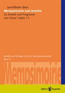Mempsimoirie und Avaritia als eBook