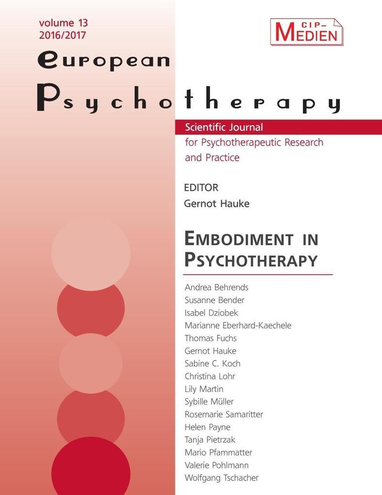 European Psychotherapy 2016/2017 als eBook