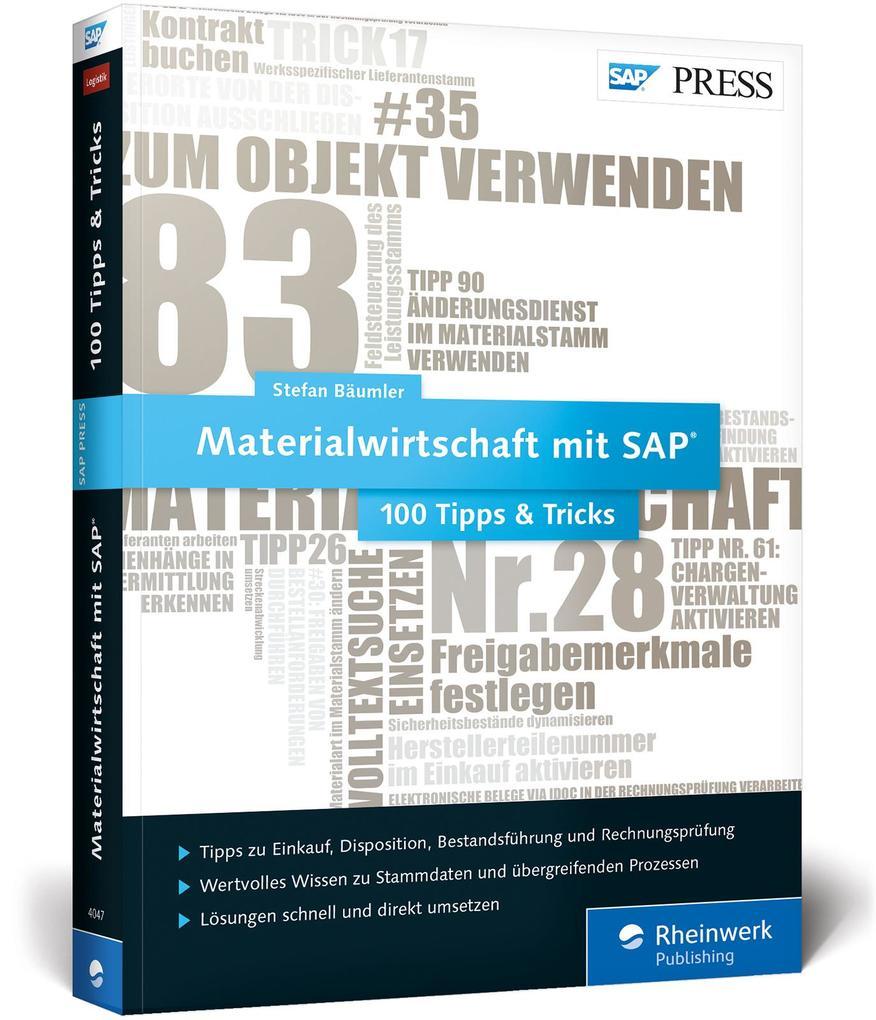 Materialwirtschaft mit SAP 100 Tipps & Tricks (Buch