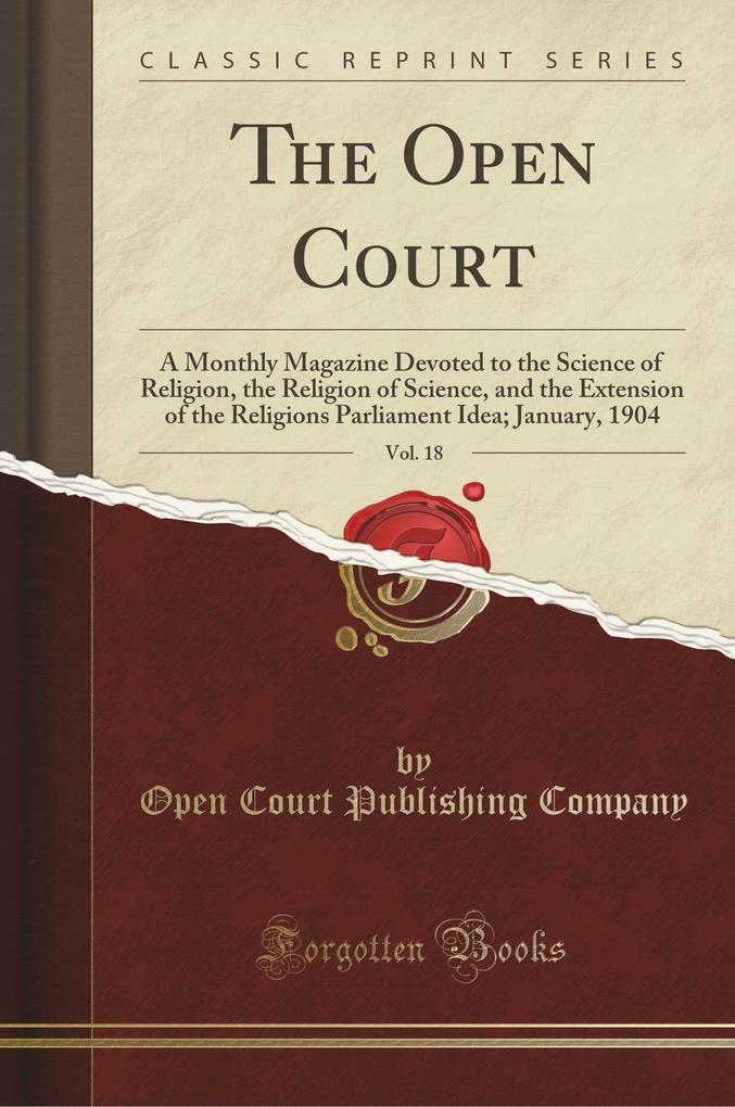 The Open Court, Vol. 18