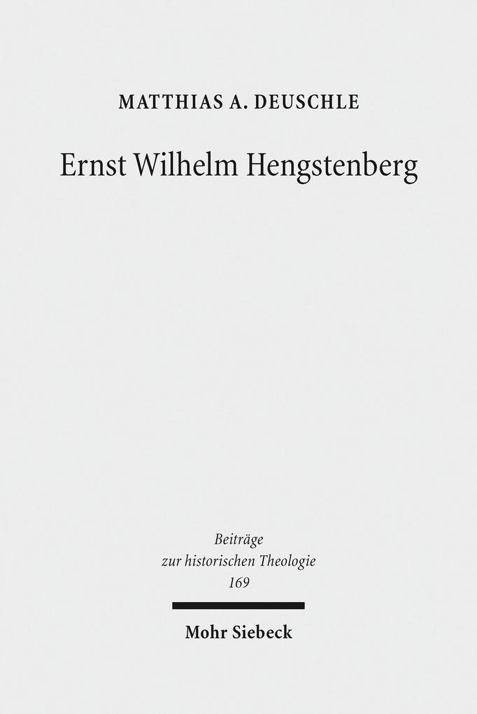 Ernst Wilhelm Hengstenberg als eBook pdf