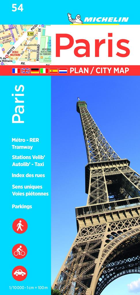 Michelin Stadtplan Paris 1 : 10 000