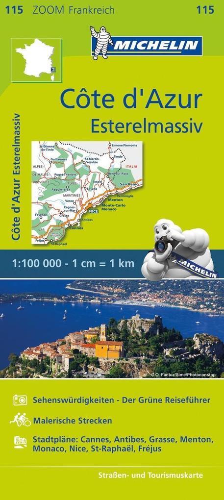 Michelin Zoomkarte Côte d'Azur - Esterelmassiv 1 : 100 000