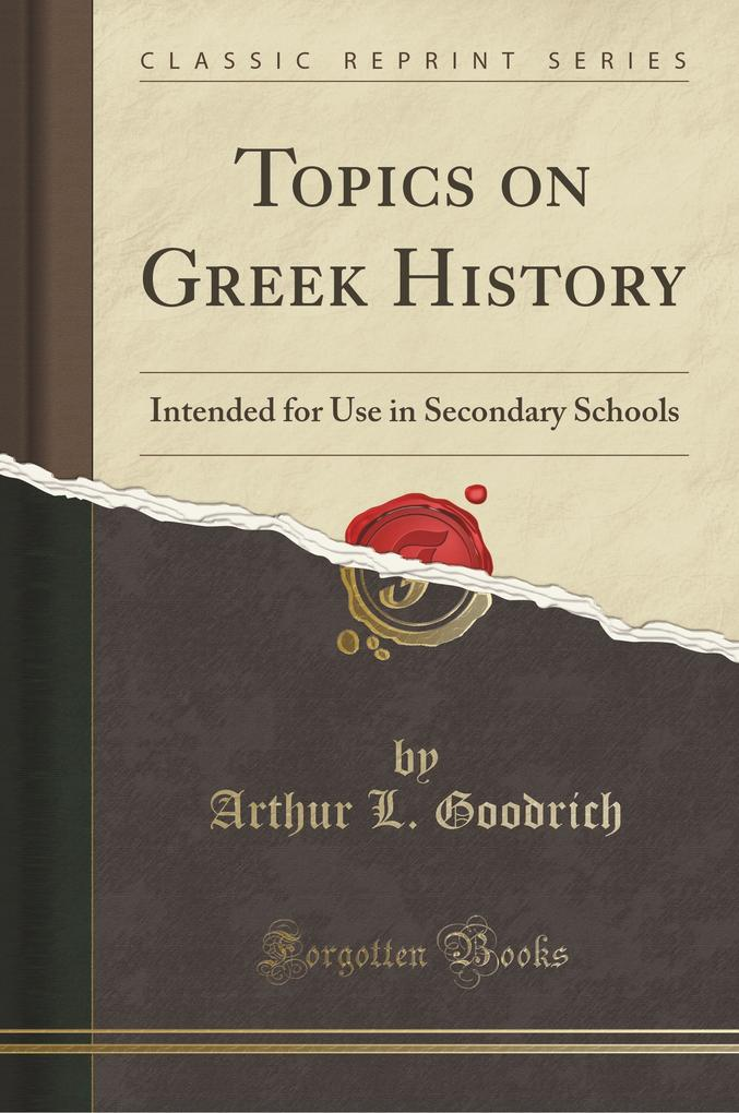 Topics on Greek History