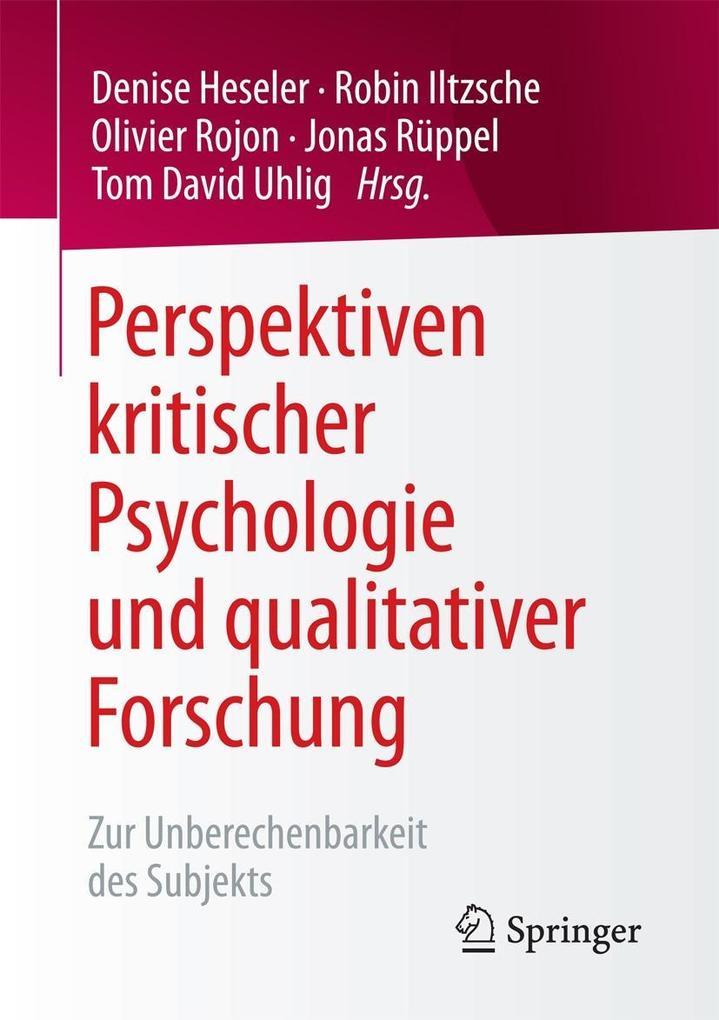 Perspektiven kritischer Psychologie und qualitativer Forschung als eBook