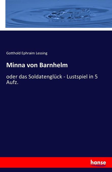 Minna von Barnhelm als Buch