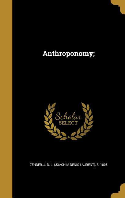 ANTHROPONOMY als Buch