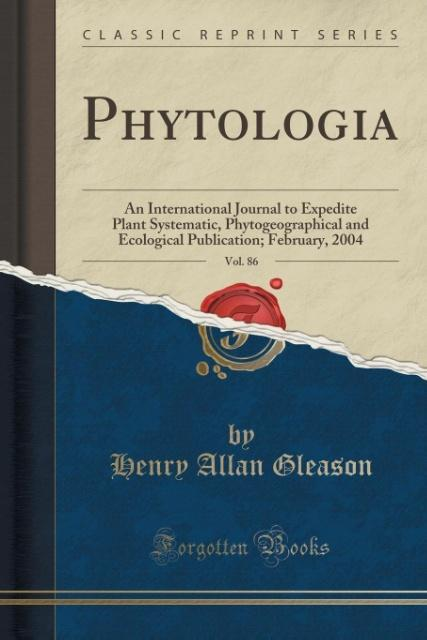 Phytologia, Vol. 86 als Taschenbuch von Henry Allan Gleason