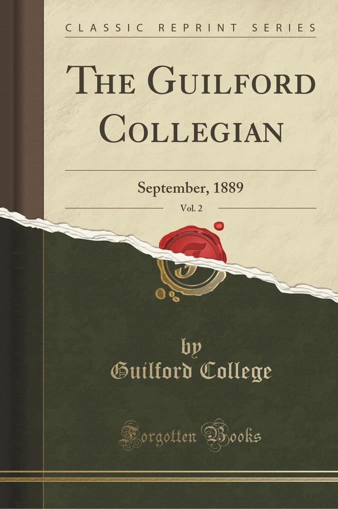The Guilford Collegian, Vol. 2 als Taschenbuch von Guilford College