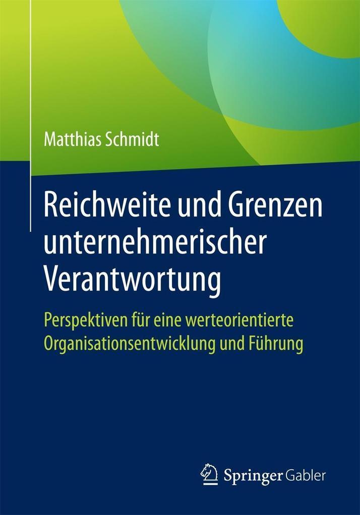Reichweite und Grenzen unternehmerischer Verantwortung als eBook pdf