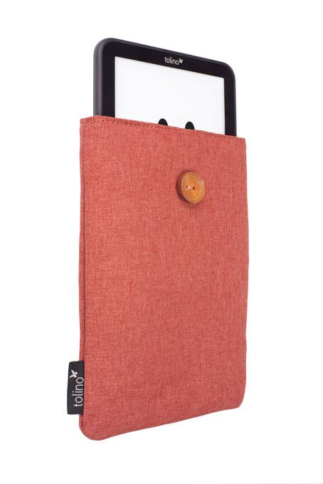 tolino Stofftasche mit Innenfutter - Rot