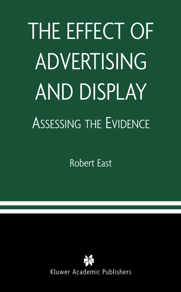 The Effect of Advertising and Display als Buch
