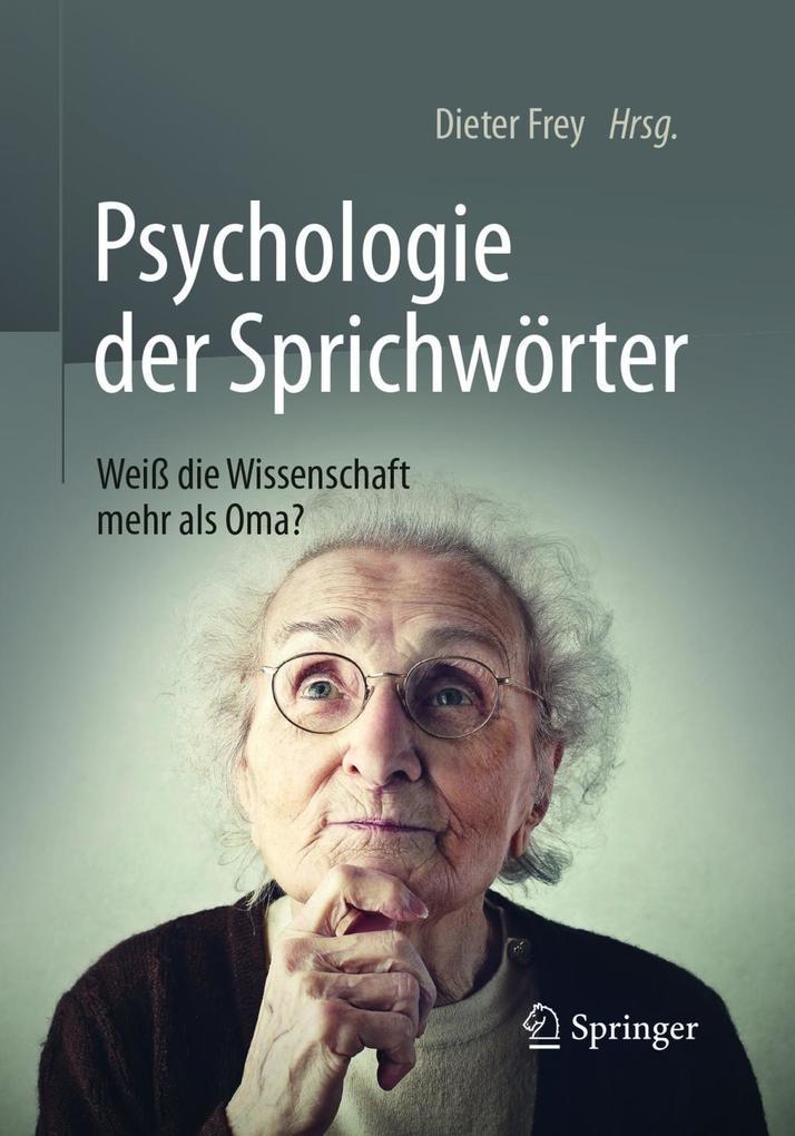 Psychologie der Sprichwörter als eBook von