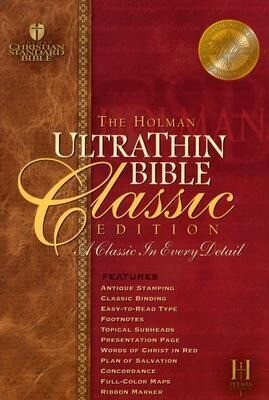 Ultrathin Reference Bible-Hcsb-Classic als Buch