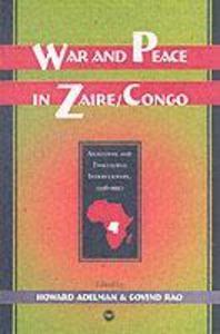 War And Peace In Zaire/congo als Taschenbuch
