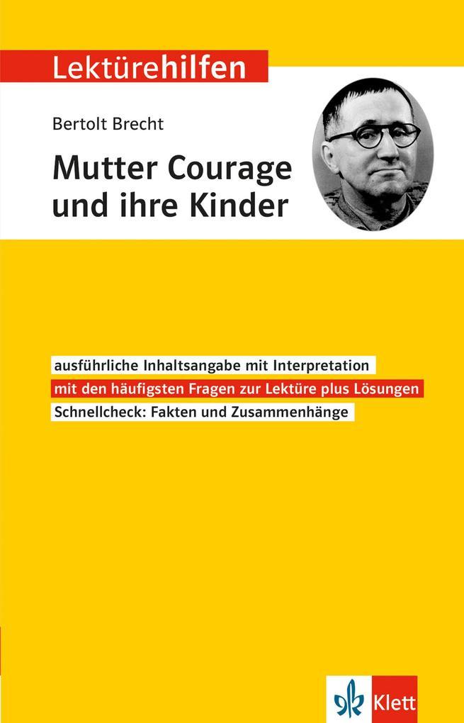 """Klett Lektürehilfen Bertolt Brecht """"Mutter Courage und ihre Kinder"""" als Buch"""