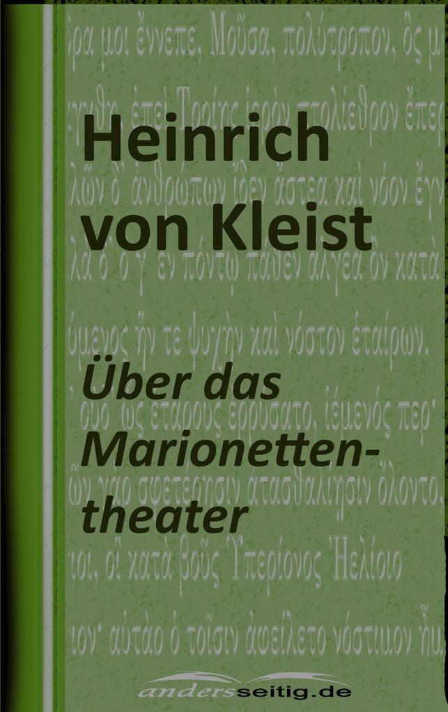 Über das Marionettentheater als eBook