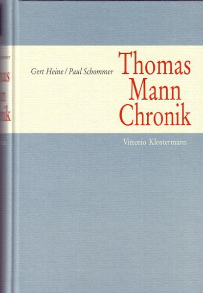 Thomas Mann Chronik als Buch