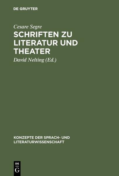 Schriften zu Literatur und Theater als Buch