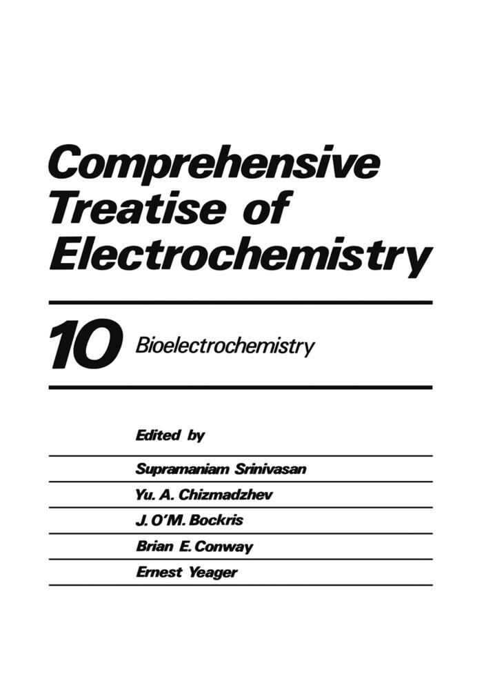 Comprehensive Treatise of Electrochemistry: Volume 10 Bioelectrochemistry als Taschenbuch