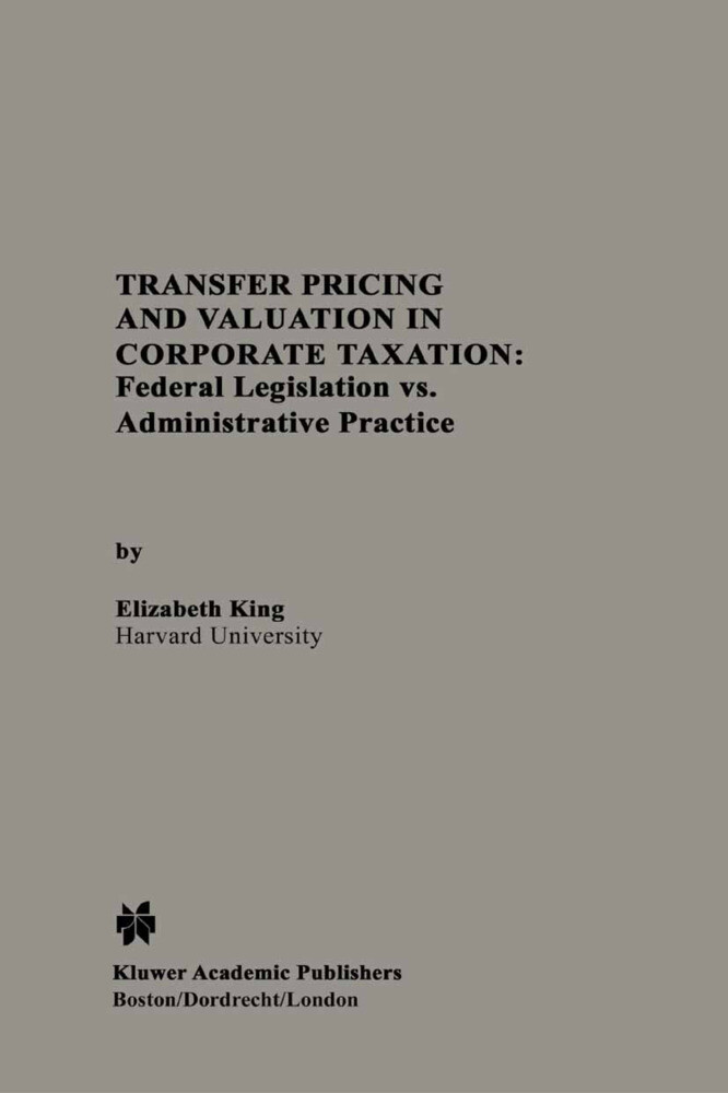 Transfer Pricing and Valuation in Corporate Taxation als Buch (gebunden)