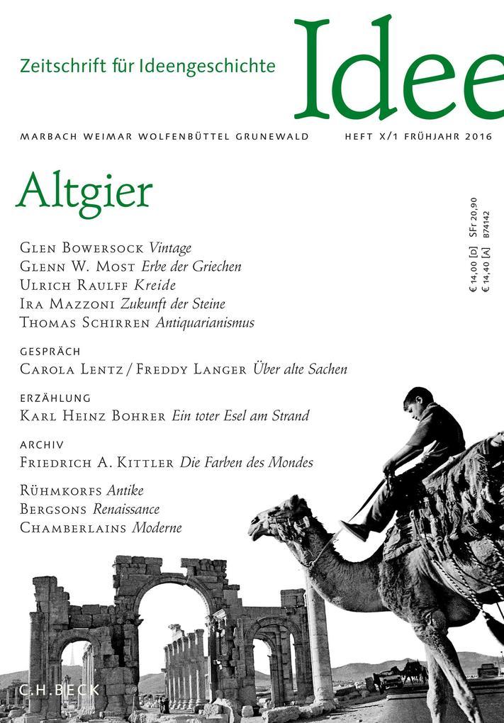 Zeitschrift für Ideengeschichte Heft X/1 Frühjahr 2016 als eBook