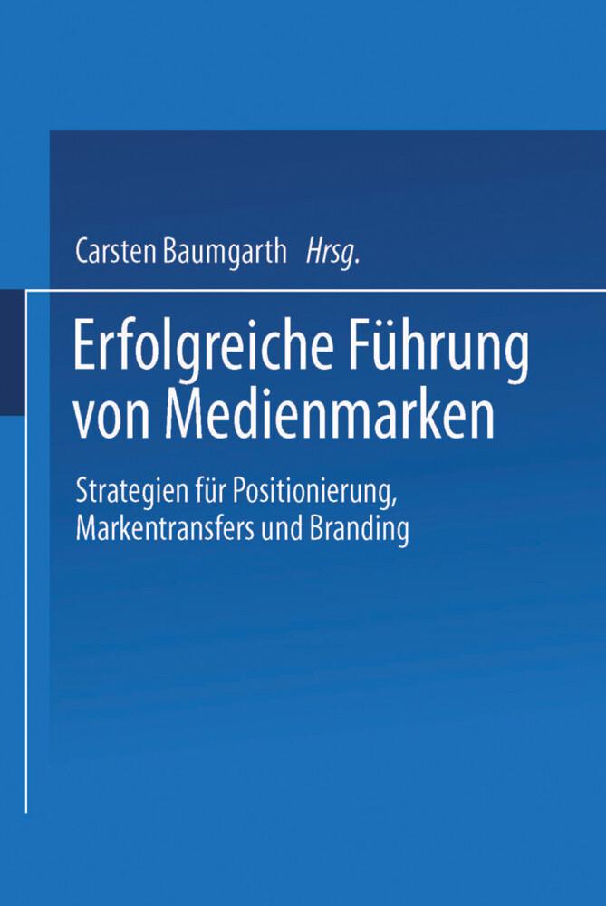 Erfolgreiche Führung von Medienmarken als Buch (kartoniert)