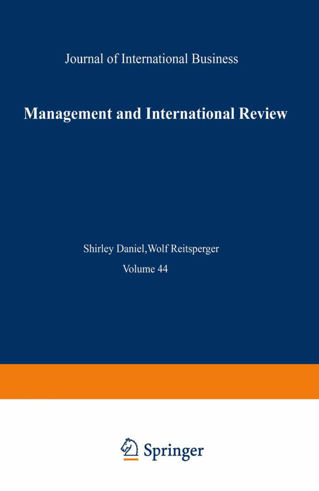 Management and International Review als Buch (kartoniert)