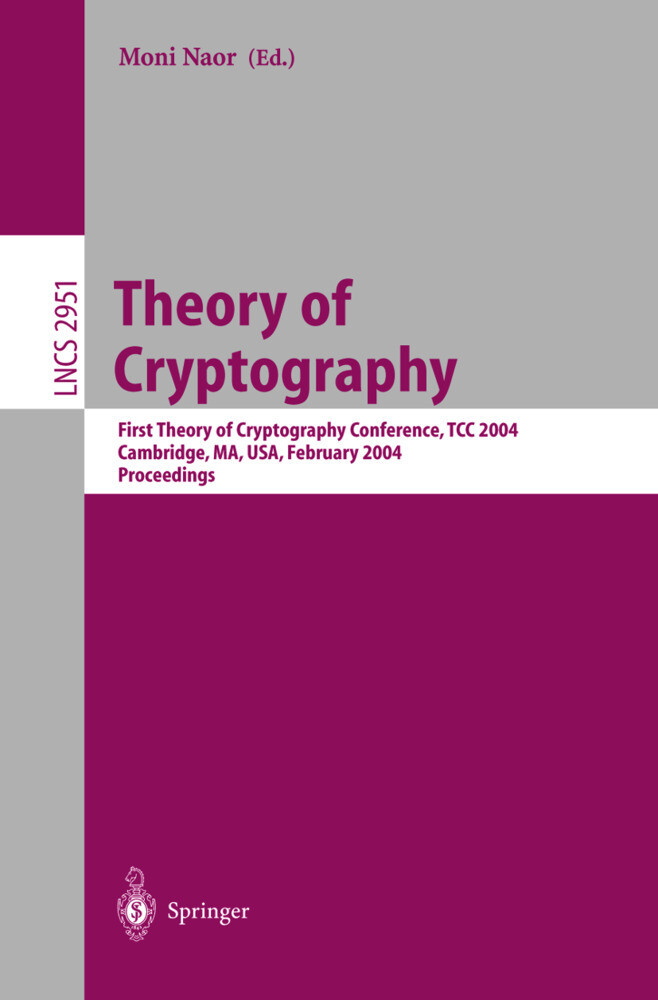 Theory of Cryptography als Buch