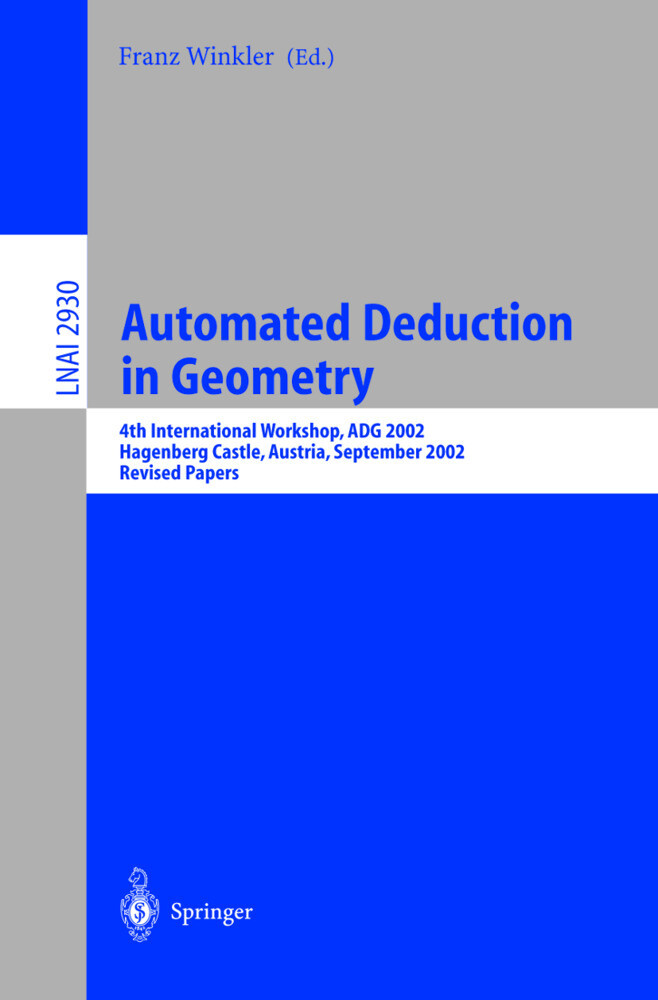 Automated Deduction in Geometry als Buch