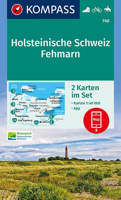 Holsteinische Schweiz, Fehmarn 1:40 000 als Buc...