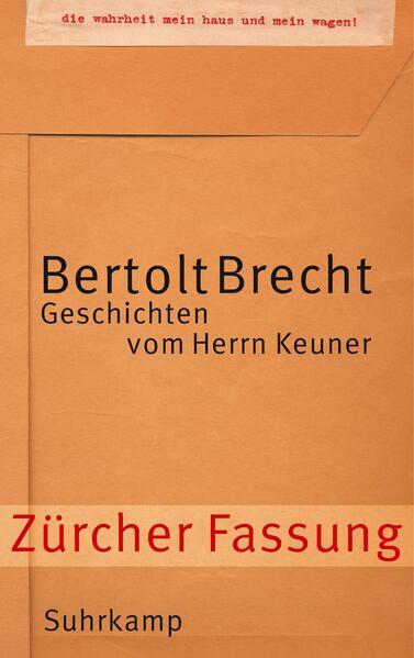 Geschichten vom Herrn Keuner als Buch