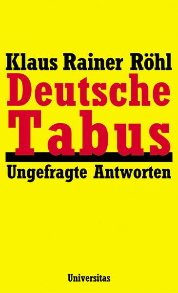 Deutsche Tabus als Buch