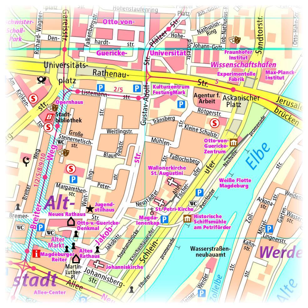Magdeburg Stadtplan 1 14 000 Blatter Und Karten