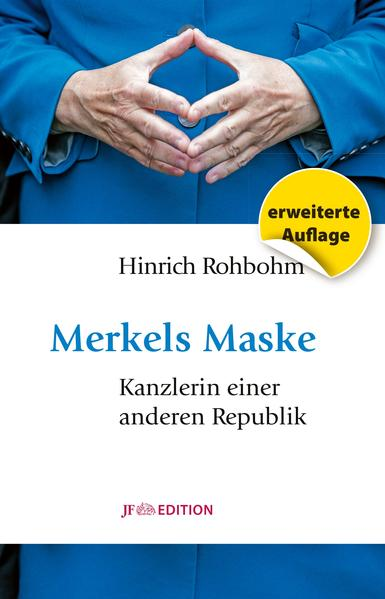 Merkels Maske als Buch von Hinrich Rohbohm