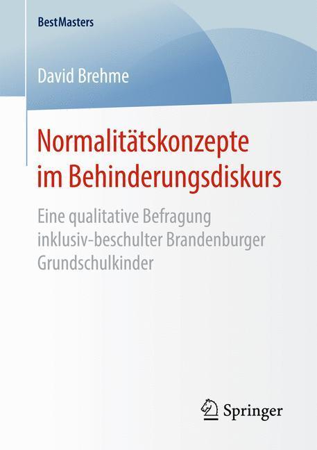 Normalitätskonzepte im Behinderungsdiskurs als Buch