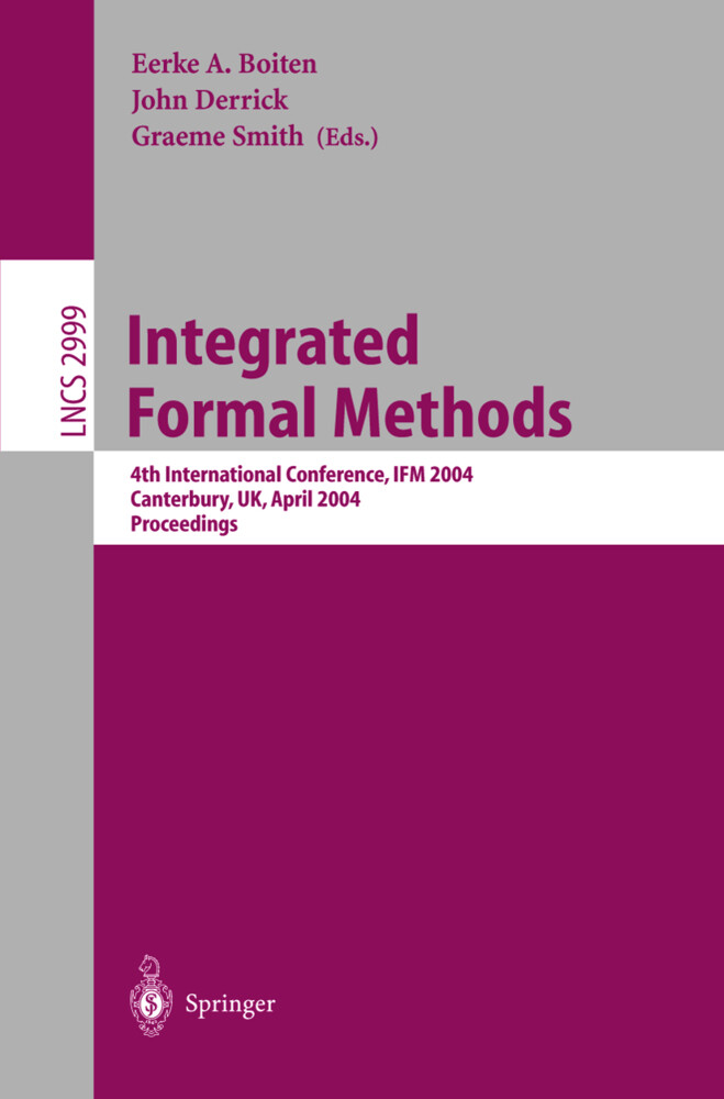 Integrated Formal Methods als Buch
